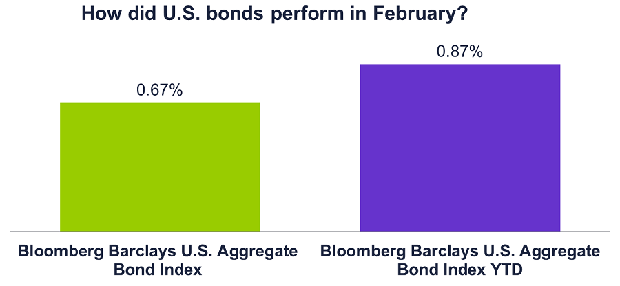 Graph of how domestic bonds performed in Feb 2017