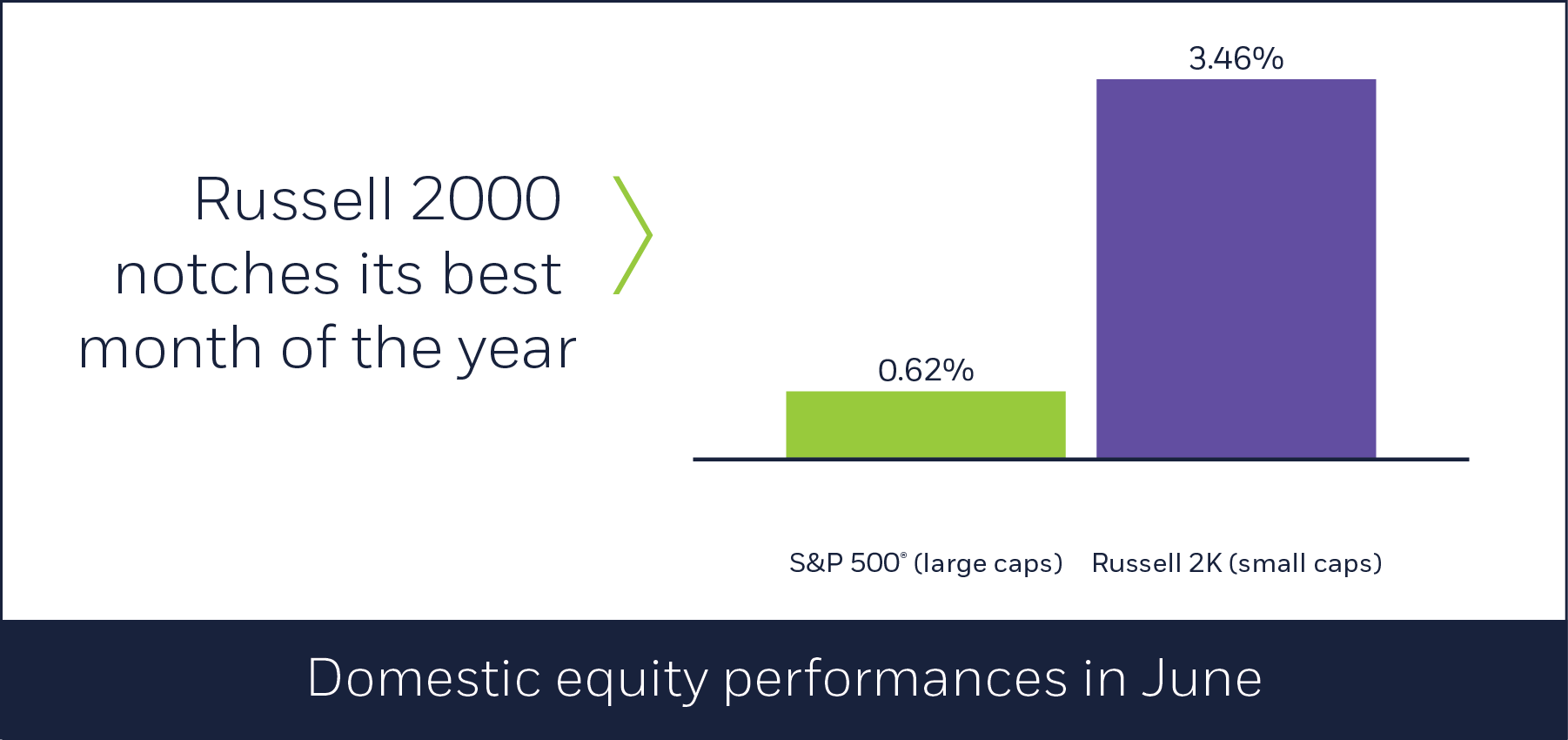 Domestic equity performances in June
