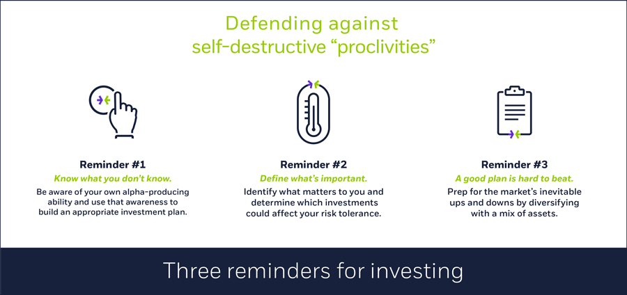 Three reminders for investing