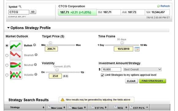 Options Strategy Optimizer