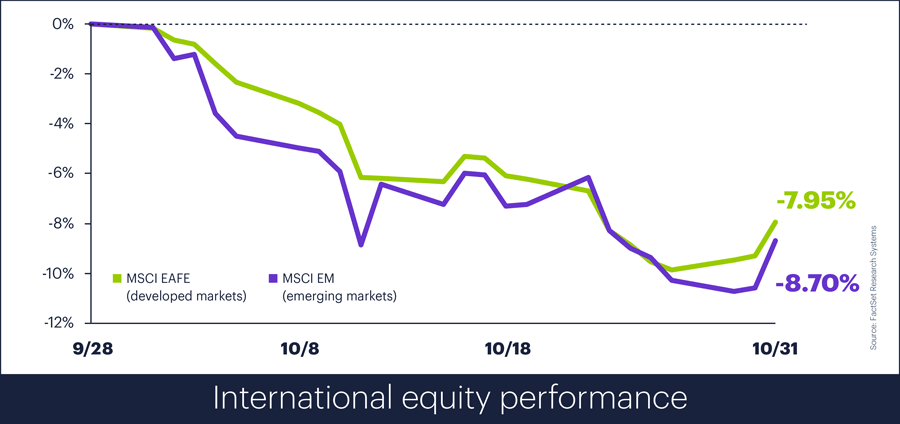 International equity performance