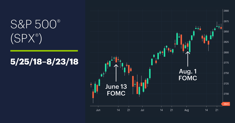 S&P 500 (SPX), 5/25/18–8/23/18. S&P 500 (SPX) price chart.