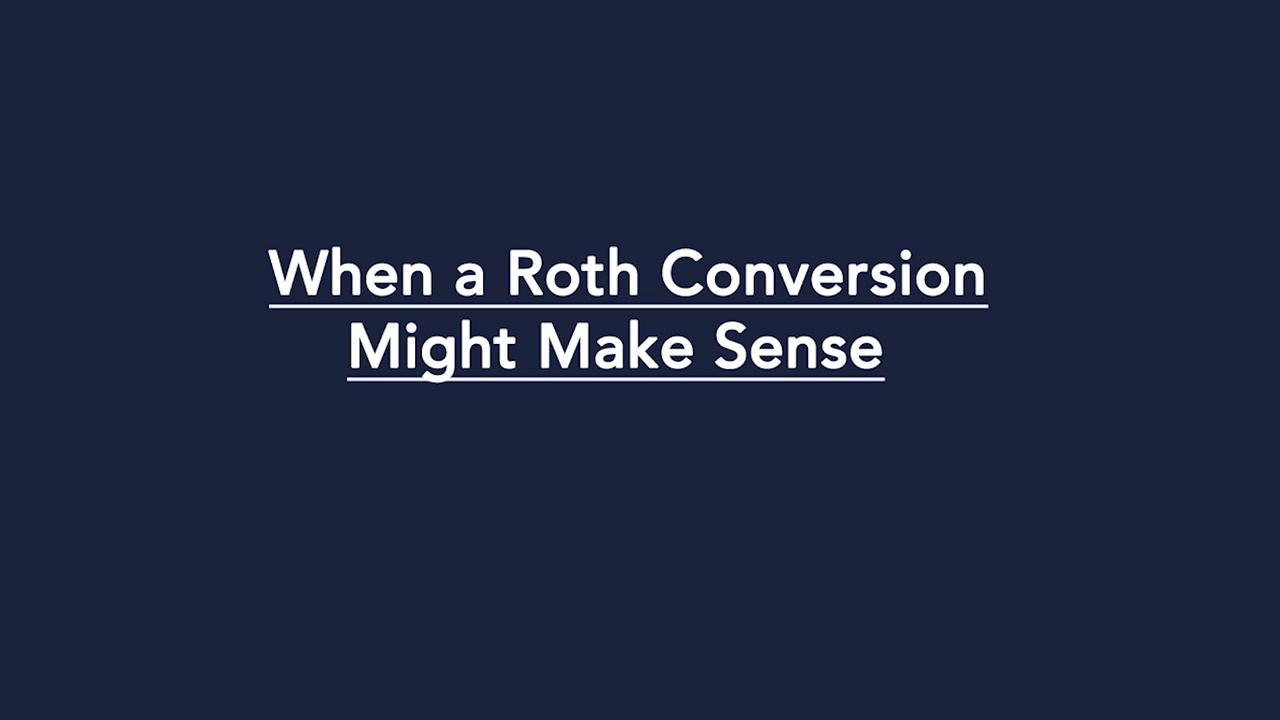 Converting a Traditional IRA to a Roth IRA | Learn more